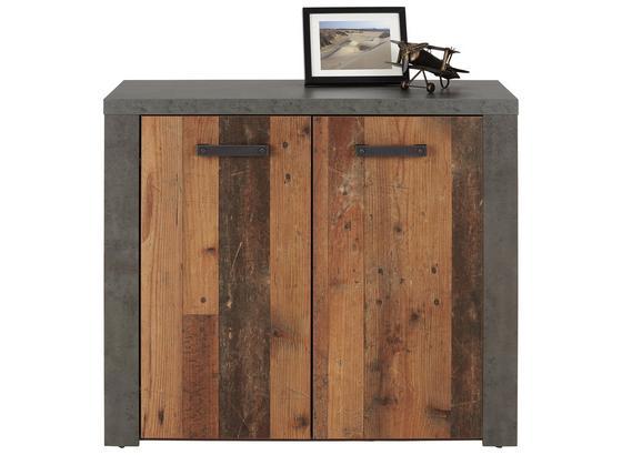 Komoda Clif - hnedá/tmavohnedá, Moderný, umelá hmota/kompozitné drevo (96/83/41cm)