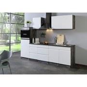 Küchenblock Cardiff B: 270 cm Weiß/vintage - Eichefarben/Weiß, Basics, Holzwerkstoff (270/200/60cm)