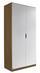 Drehtürenschrank Freising 91 cm Eiche/Weiß - Eichefarben/Weiß, MODERN, Holzwerkstoff (91/197/54cm)