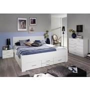 Stauraumbett Isotta Zustellung 160x200 cm Weiß - Weiß, Basics, Holzwerkstoff (160/200cm) - Carryhome