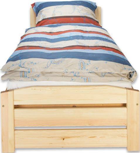 Fenyő Ágykeret Thea - fenyő színű, romantikus/Landhaus, fa (90/200cm)