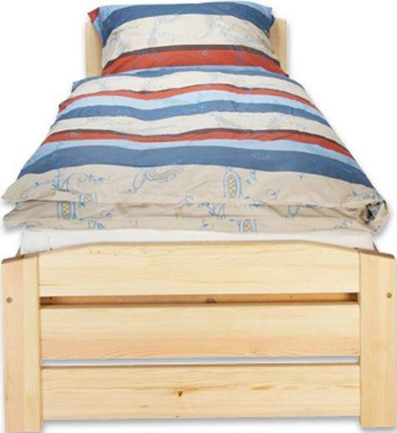 Posteľ Thea 90 - farby borovice, Romantický / Vidiecky, drevo (90/200cm)