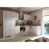 Küchenblock Premium B: 310 cm Lärche Weiß - Eichefarben/Weiß, MODERN, Holzwerkstoff (310/211/172cm) - MID.YOU