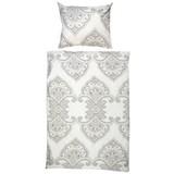 Bettwäsche Petra - Silberfarben/Weiß, KONVENTIONELL, Textil - OMBRA