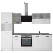 Küchenblock Prag - Weiß/Grau, KONVENTIONELL, Holzwerkstoff (210/200/60cm)