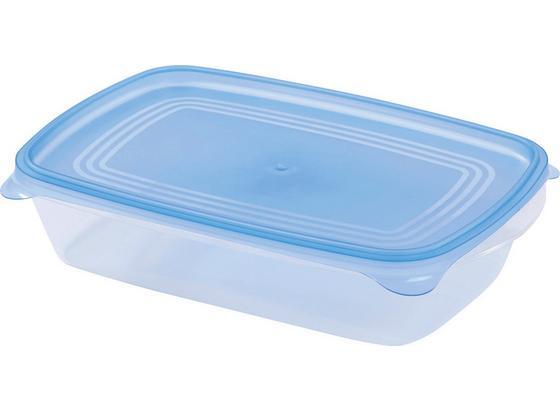 Vorratsdosenset Jack - Blau/Weiß, KONVENTIONELL, Kunststoff (25/5,5/16cm) - Homezone