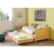 Kojenbett Ausziehbar Echtholz 90x200 Nina, Buche - Naturfarben, Design, Holz (90/200cm) - Livetastic