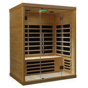 Infrarotkabine Hemlock IIi Mbx - Naturfarben, MODERN, Glas/Holz (150/110/190cm)