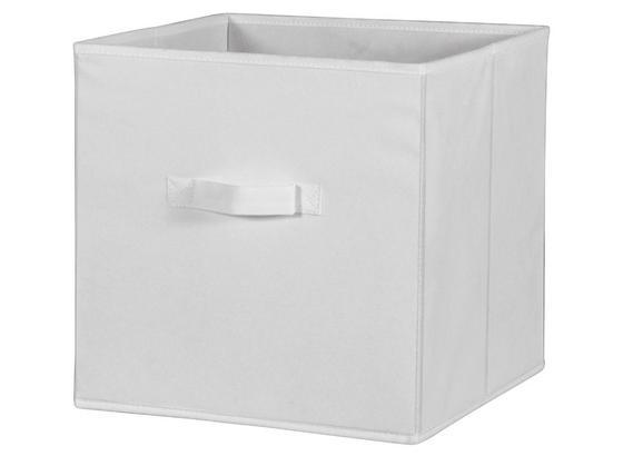 SKLÁDACÍ KRABICE CLIFF 3 - bílá, Moderní, textil (32/32/32cm)