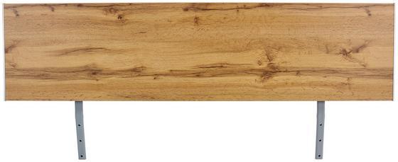 Kopfteil Belia, für Bett 140x200 cm - Eichefarben, KONVENTIONELL, Holzwerkstoff (147cm)