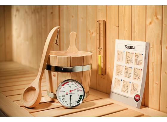 Saunazubehör Premium Set 5-teilig - Fichtefarben, MODERN, Holz/Metall