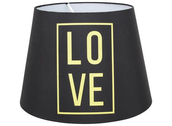 Tienidlo Na Svetlo Love - čierna, Romantický / Vidiecky, textil (35cm) - Modern Living