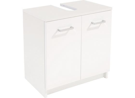 Skrinka Pod Umývadlo Fiola - biela, Konvenčný, kompozitné drevo (55/52,2/30cm)