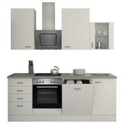 Küchenblock Wito 220 cm Weiß - Weiß/Grau, MODERN, Holzwerkstoff (220/230/60cm)