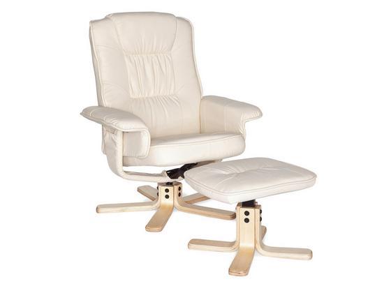 Relaxsesselset Comfort B: ca. 80 cm Creme - Birkefarben/Creme, MODERN, Textil (80/100/70cm) - Livetastic