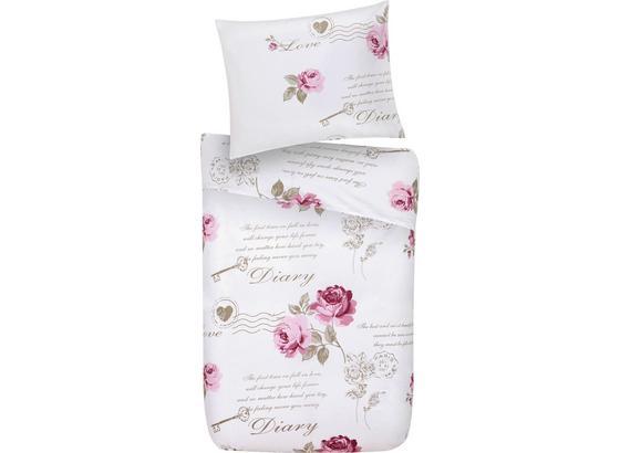 Posteľná Bielizeň Diary Rose - biela, Romantický / Vidiecky, textil - Mömax modern living
