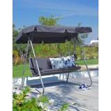 Hojdačka Hollywood Blacky - antracitová/farby striebra, umelá hmota/kov (176/164,5/133,7cm) - MÖMAX modern living