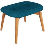 Hocker Amarillo - Blau/Eichefarben, LIFESTYLE, Textil (59/40/38cm) - Luca Bessoni