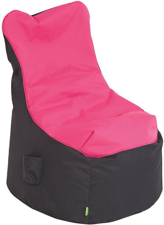 Sedací Pytel Cortona - růžová/antracitová, textil (65/100/88cm)