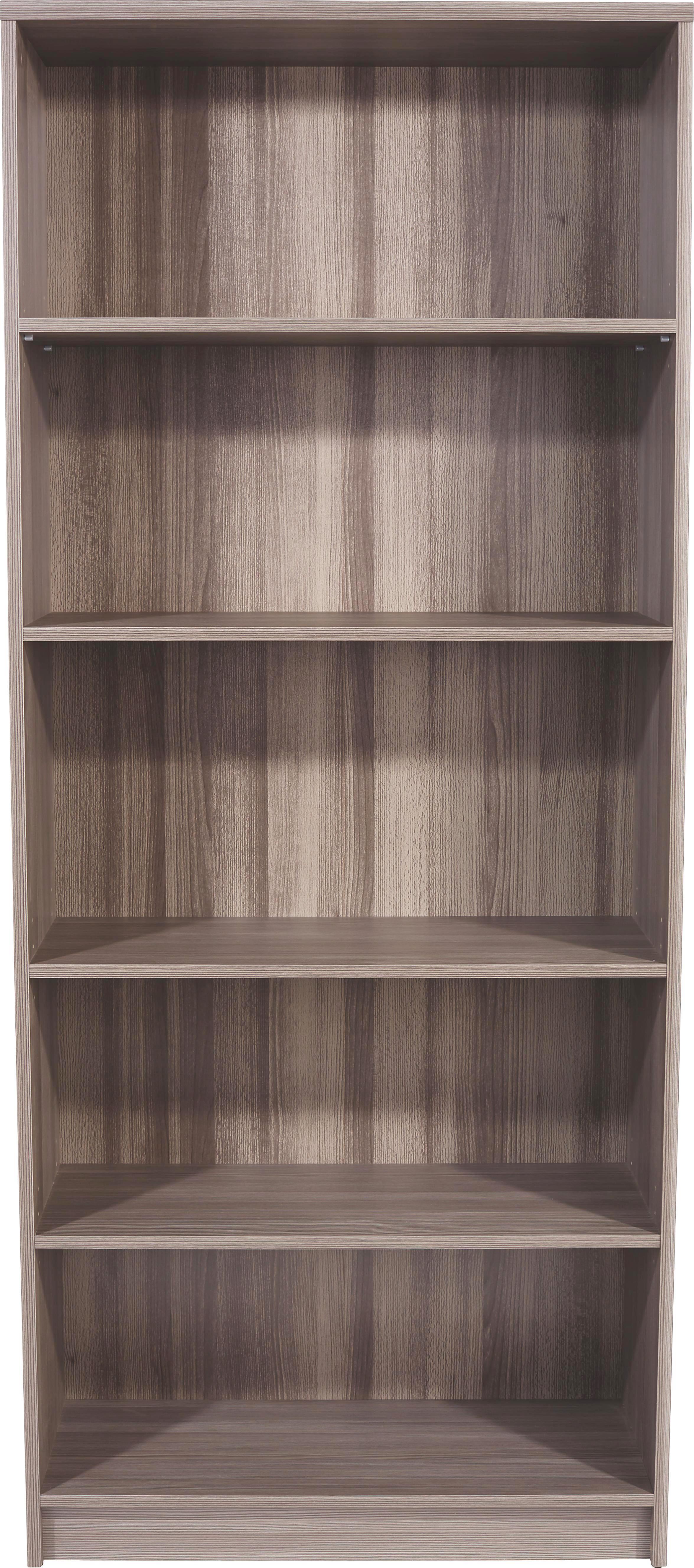 Regál 4-you Yur03 - tmavě hnědá, Moderní, dřevěný materiál (74/189,5/34,6cm)