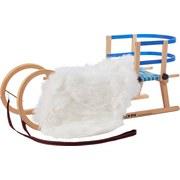 Schlitten 3-teiliges Set - Blau/Weiß, KONVENTIONELL, Holz/Kunststoff (110cm)