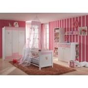Babyzimmer Cinderella Weiß/ Rosa - Rosa/Weiß, Trend, Holzwerkstoff - Xora