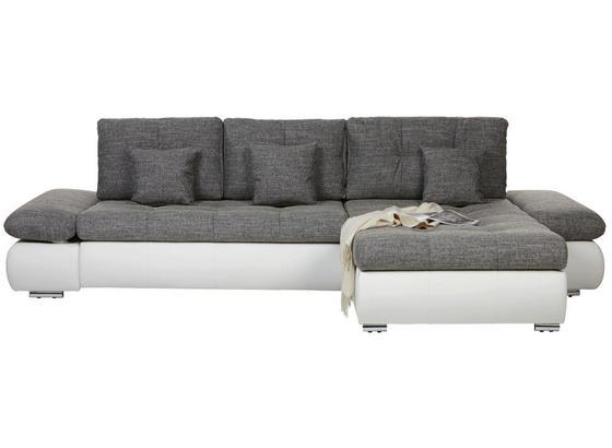 Sedacia Súprava Enrico - sivá/biela, Konvenčný, textil (303/185cm) - Based