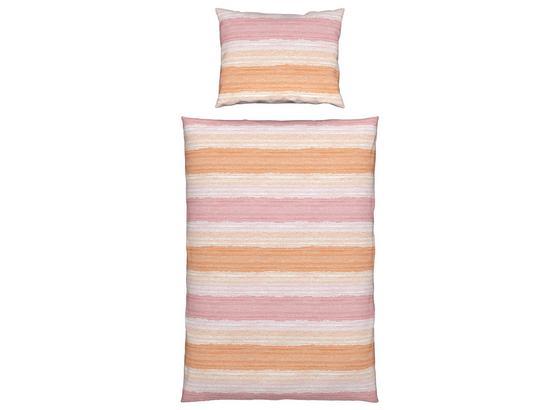 Bettwäsche Melanie - Orange/Rosa, KONVENTIONELL, Textil - Ombra