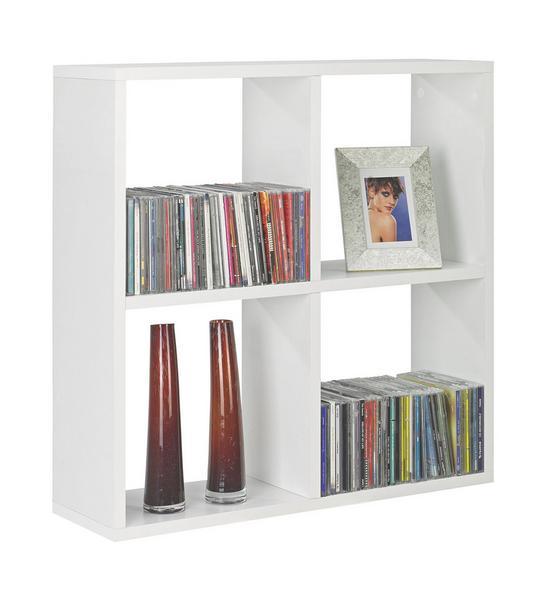 Nástenný Regál Alex  *cenový Trhák* - biela, Moderný, kompozitné drevo (60/60/18cm)