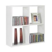 Regál Nástěnný Alex  *cenový Trhák* - bílá, Moderní, dřevěný materiál (60/60/18cm)