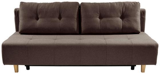 Rozkladacia Pohovka Empoli - hnedá, Moderný, textil (202/89/92cm)