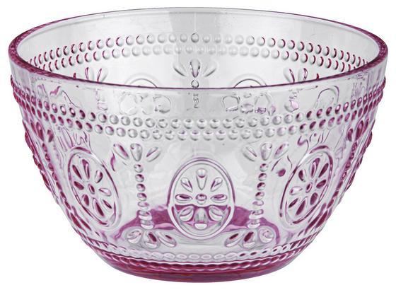 Miska St. Remy - ružová, Romantický / Vidiecky, sklo (13/7,7cm) - Mömax modern living