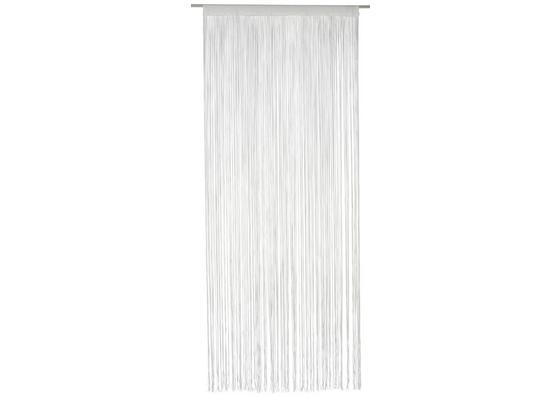 Fadenvorhang Stangendurchzug Marietta B: 90cm, Weiß - Weiß, KONVENTIONELL, Textil (90/245cm) - Ombra
