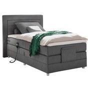 Boxspringbett mit Topper, verstellbar 120x200 Saba - Silberfarben/Grau, Basics, Holzwerkstoff/Textil (120cm) - MID.YOU
