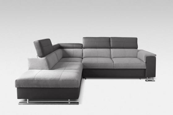 Sedací Souprava Boston Ot/p+3/fb - šedá/tmavě šedá, Moderní, textil (226/272/81cm)