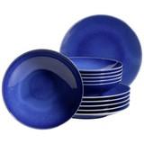 Tafelservice Ossia 12-Tlg - Dunkelblau, Basics, Keramik - Mäser