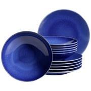 Tafelservice Ossia 12-Tlg - Dunkelblau, Basics, Keramik