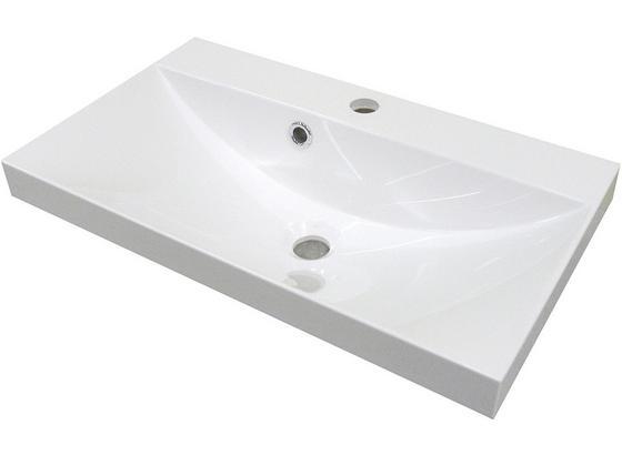 Waschbecken Guss Lima B:60cm Weiß - Weiß, MODERN, Keramik (60/14/35cm) - Fackelmann