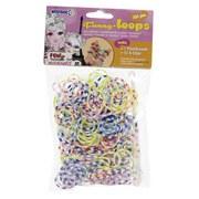 Schmuckbastelset Funny Loops 4er Package - Blau/Gelb, Basics, Kunststoff (15/9/12cm)