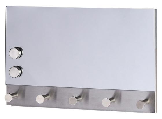 Hakenleiste Mirror Mgnetisch - Edelstahlfarben, MODERN, Glas/Metall (30/19cm)