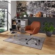 Otočná Židle Melbourne - barvy chromu/hnědá, Moderní, kov/textil (57,5/84,5-94,5/58,5cm) - Luca Bessoni