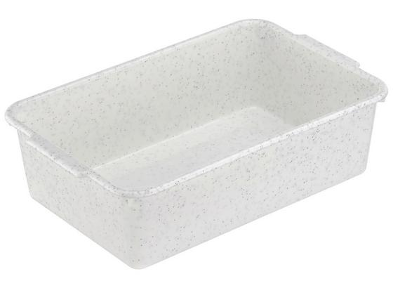 Tárolódoboz 1,8 Liter - Zöld/Fehér, konvencionális, Műanyag (25/16/7cm)