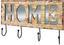 Hakenleiste Casa Home - Schwarz/Braun, MODERN, Holzwerkstoff/Metall (56/33/8cm)