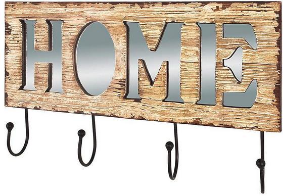 Lišta Na Háčiky Casa Home - hnedá/čierna, Moderný, kov/kompozitné drevo (56/33/8cm)