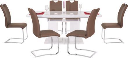 Großer Tisch mit eleganter Hochglanzoptik