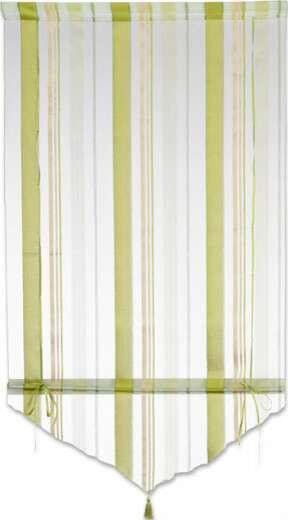 Vitrázsfüggöny Milou - barna/fekete, konvencionális, textil (80/140cm) - OMBRA