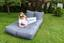 Outdoorsitzsack Relax-Liege 120 cm Anthrazit - Anthrazit, KONVENTIONELL, Textil (120/60/200cm)