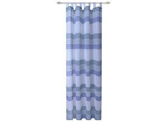 Kombivorhang Luzia - Blau, MODERN, Textil (140/255cm) - Luca Bessoni