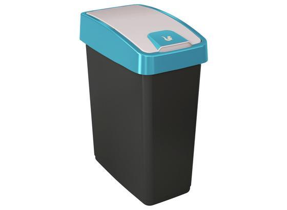 Abfalleimer Magne - Blau/Graphitfarben, Kunststoff (39,5/24/47,5cm)