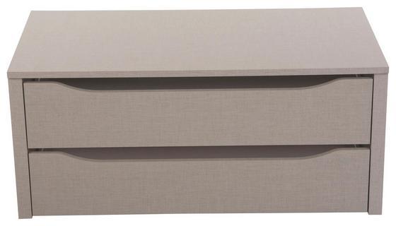 Nástavec Na Zásuvky 2 Zásuvky - šedá, Konvenční, dřevo (88/39/45cm)